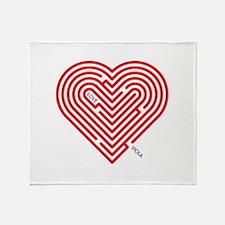 I Love Viola Throw Blanket