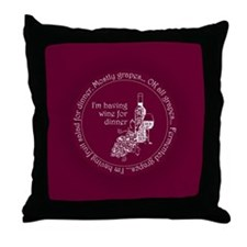 Wine for dinner Throw Pillow