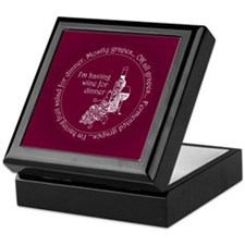 Wine for dinner Keepsake Box