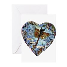 heart faith courage Greeting Cards (Pk of 20)