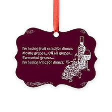 Wine For Dinner Ornament