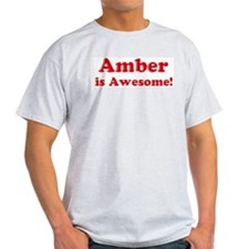 Amber is Awesome Ash Grey T-Shirt