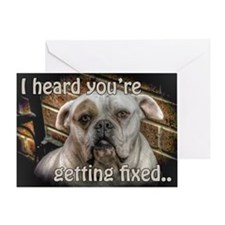 getting fixed get well card Greeting Card