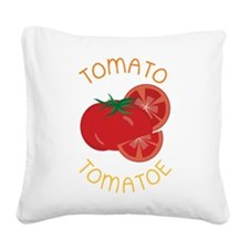 Tomato Square Canvas Pillow