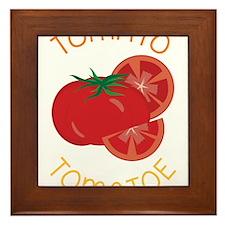 Tomato Framed Tile