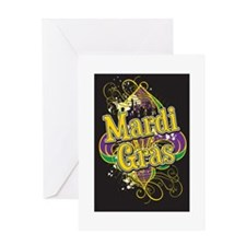 Mardi Gras Design B Greeting Card