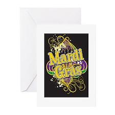 Mardi Gras Design B Greeting Cards (Pk of 10)