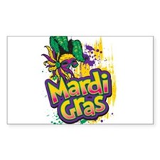 Mardi Gras Design C Decal
