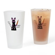 Ninja Bunny Drinking Glass