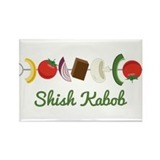 Shish Kabob Rectangle Magnet