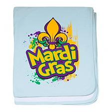 Mardi Gras Design D baby blanket