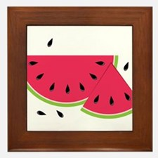 Watermelon Slice Framed Tile