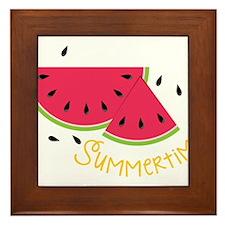 Summertime Framed Tile