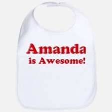 Amanda is Awesome Bib