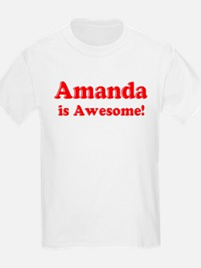 Amanda is Awesome Kids T-Shirt