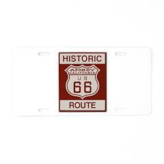 Amboy Route 66 Aluminum License Plate