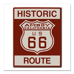 Amboy Route 66 Square Car Magnet 3