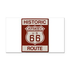 Amboy Route 66 Rectangle Car Magnet