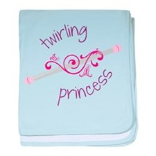 Twirling Princess baby blanket