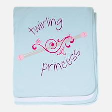 Twirling Princess baby blanket