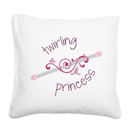 Twirling Princess Square Canvas Pillow