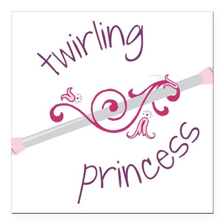 "Twirling Princess Square Car Magnet 3"" x 3"""