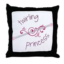 Twirling Princess Throw Pillow