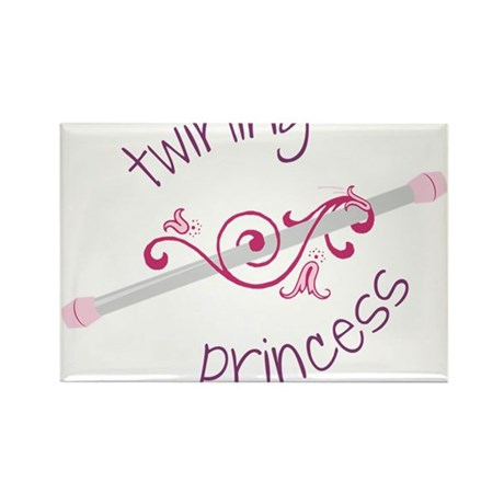 Twirling Princess Rectangle Magnet