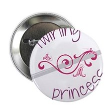 "Twirling Princess 2.25"" Button"