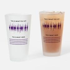 Audio Blah Blah Blah Drinking Glass