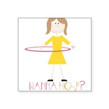 Wanna Hoop? Sticker