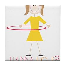 Wanna Hoop? Tile Coaster