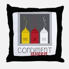 Condiment Queen Throw Pillow