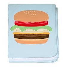 Cheeseburger baby blanket