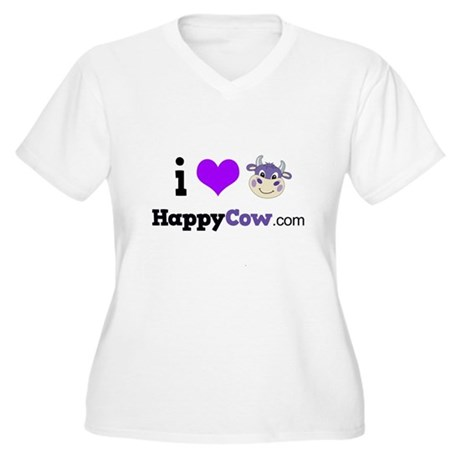 i heart HappyCow Plus Size T-Shirt