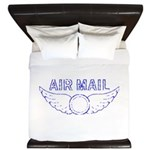 Air Mail Stamp King Duvet