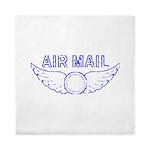Air Mail Stamp Queen Duvet