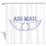 Air Mail Stamp Shower Curtain