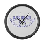 Air Mail Stamp Large Wall Clock