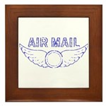 Air Mail Stamp Framed Tile
