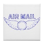 Air Mail Stamp Tile Coaster