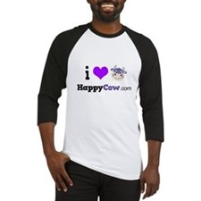 i heart HappyCow Baseball Jersey