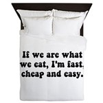 Are What Eat Queen Duvet