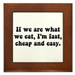 Are What Eat Framed Tile