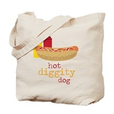 Hot Diggity Tote Bag