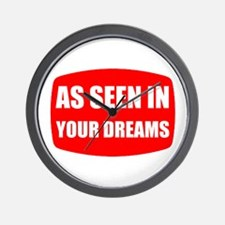 As Seen In Dreams Wall Clock