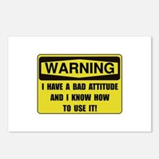 Attitude Warning Postcards (Package of 8)