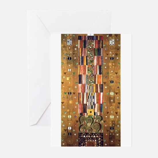 Gustav Klimt End of the Wall Greeting Cards