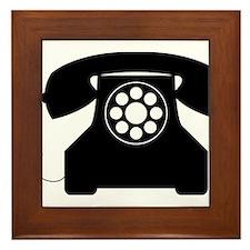 Telephone Framed Tile