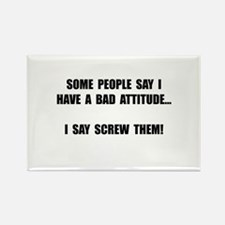 Bad Attitude Rectangle Magnet (10 pack)